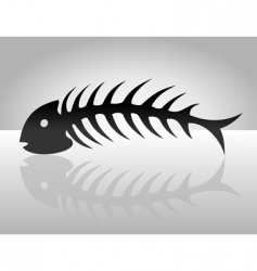 fish bone2 vector image vector image