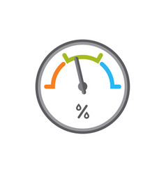 Flat icon of hygrometer isolated vector