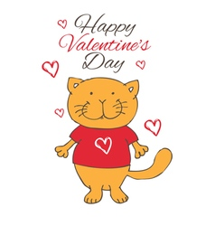 funny love cat vector image