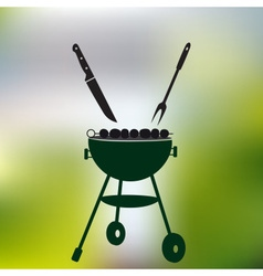 garden party meat grill with food on abstract vector image vector image