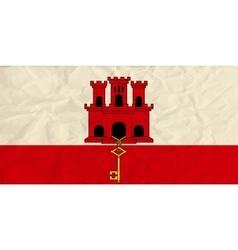 Gibraltar paper flag vector