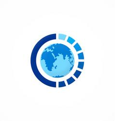 Globe round sphere logo vector