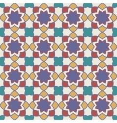 Gorgeous seamless arabic tile pattern design vector