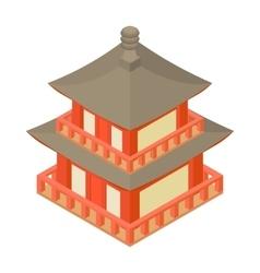 Pagoda icon cartoon style vector