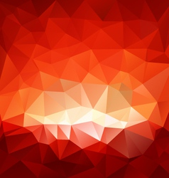 Red hell triangular background vector
