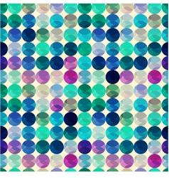 Seamless circle polka dots texture vector