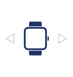 smart watch symbol sign silhouette icon on vector image vector image