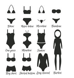 Swimsuits models for women vector image vector image