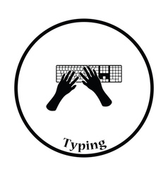 Typing icon vector image