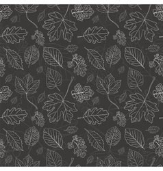 Vintage black background with tree leaves vector image vector image