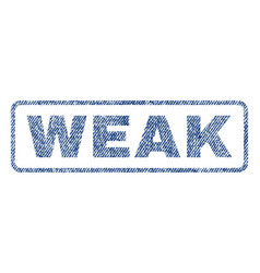 Weak textile stamp vector