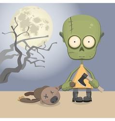 Zombie girl vector image