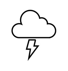 electric storm weather isolated icon vector image