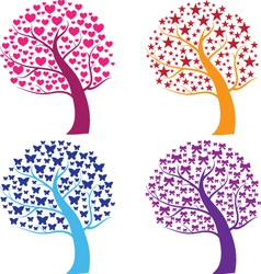 Whimsical pattern trees vector