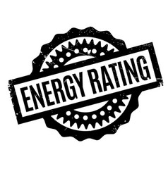 energy rating rubber stamp vector image