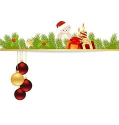 christmas pine frame2013 09 23 vector image