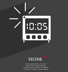 Digital alarm clock icon symbol flat modern web vector