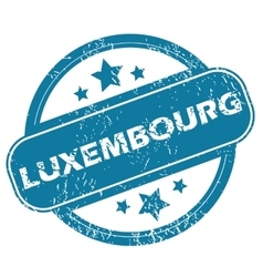 Luxembourg round stamp vector