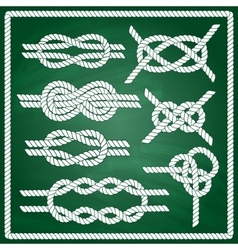Sailor knot set vector