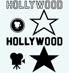 Hollywood symbol vector