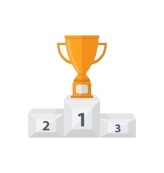 Award cup with a pedestal vector