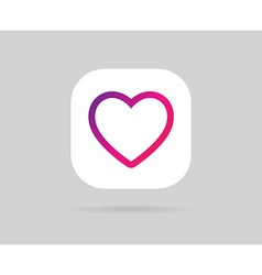App icon template gradient fresh color vector