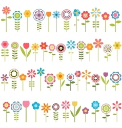 big set of flowers vector image vector image