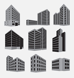 Building icon set vector