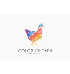 Chicken logo Color chicken Creative logo vector image vector image