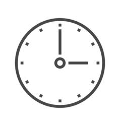 Clock Line Icon vector image vector image