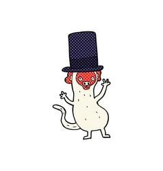 comic cartoon monkey in top hat vector image vector image