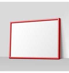 Dark gray horizontal frame for paintings vector