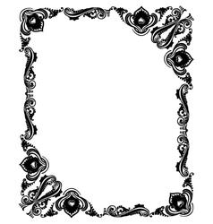 Design frame black vector image