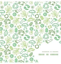 Ecology symbols frame corner pattern background vector