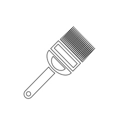 Fork for uncapping honeycombs icon outline style vector image vector image