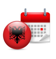Icon of national day in albania vector
