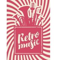 Inscription retro music vector