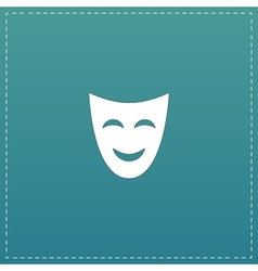 Joyful mask flat icon vector