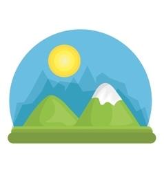 Landscape mountain green river design vector