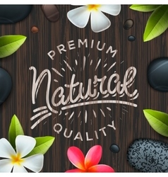 Natural premium quality label spa concept vector image