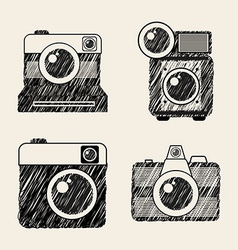 photographic icon vector image vector image