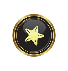 Sea star icon vector image vector image