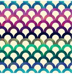 Seamless retro scallop background vector