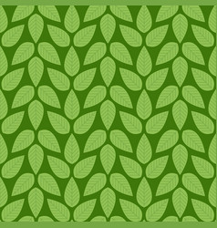 seamless stylized green leaf pattern vector image vector image