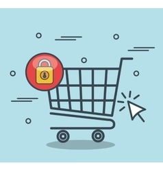 security shopping online desing vector image