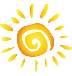 Summer hot abstract sun vector