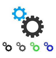 Transmission gears flat icon vector