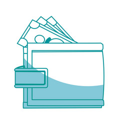 Wallet money safe finance business icon vector