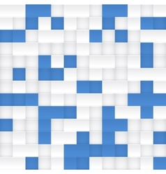 White and blue mosaic seamless pattern vector