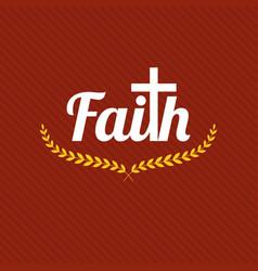 word faith vector image